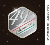 49th anniversary   classy and... | Shutterstock .eps vector #238904491