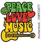 reggae inspired peace love... | Shutterstock . vector #238922077