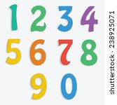 colorful numbers isolated on... | Shutterstock .eps vector #238925071