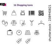 set of shopping icons   Shutterstock .eps vector #238940821