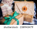 beautiful themed gifts lie on... | Shutterstock . vector #238943479