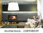 designed lamp in modern luxury... | Shutterstock . vector #238948039