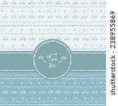 hand drawn seamless pattern... | Shutterstock .eps vector #238955869