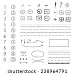 set of hand drawing elements... | Shutterstock .eps vector #238964791