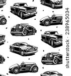 retro autos seamless vector... | Shutterstock .eps vector #238965034