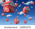 Falling Houses With Percent...