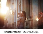 a young beautiful slim woman in ... | Shutterstock . vector #238966051