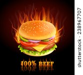 Realistic Beef Hamburger In...