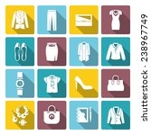 businesswoman clothes flat icon ... | Shutterstock .eps vector #238967749