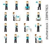 waiter man with restaurant... | Shutterstock .eps vector #238967821