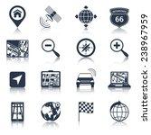 navigation road traffic city...   Shutterstock .eps vector #238967959