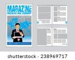 layout magazine  vector  | Shutterstock .eps vector #238969717