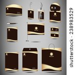 identity kit stationery element | Shutterstock .eps vector #238983529