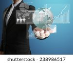 businessman with financial... | Shutterstock . vector #238986517