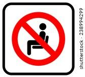 no sitting