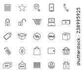 shopping line icons on white...   Shutterstock .eps vector #238995925