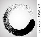 circle brush stroke border... | Shutterstock .eps vector #239011411