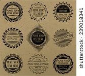 set of vintage signs and labels. | Shutterstock .eps vector #239018341