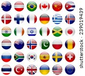 world flags vector collection.... | Shutterstock .eps vector #239019439