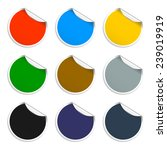 set of blank stickers.... | Shutterstock . vector #239019919