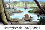 origin of amphibians | Shutterstock . vector #239028541