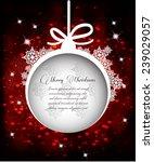 christmas greeting card | Shutterstock .eps vector #239029057