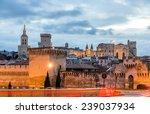 View Of Medieval Town Avignon...