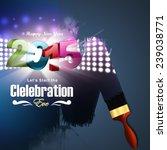 happy new year 2015 celebration ... | Shutterstock . vector #239038771