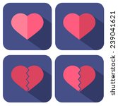 set of icons with hearts | Shutterstock . vector #239041621