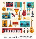 set of vector modern flat... | Shutterstock .eps vector #239056105
