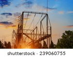 high voltage electric... | Shutterstock . vector #239060755
