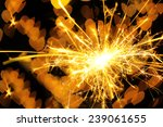 beautiful sparkler on shiny... | Shutterstock . vector #239061655
