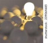 3d Growing Light Bulb Standing...