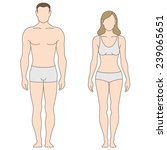 figures of man and woman. the... | Shutterstock .eps vector #239065651