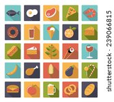 food and drink flat design long ... | Shutterstock .eps vector #239066815
