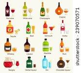 alcohol drinks | Shutterstock .eps vector #239070571