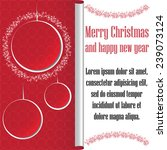 christmas   new year vector... | Shutterstock .eps vector #239073124