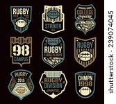 rugby college team emblems in... | Shutterstock .eps vector #239074045