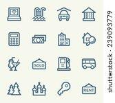 travel web icons set | Shutterstock .eps vector #239093779
