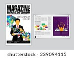 layout magazine  vector  | Shutterstock .eps vector #239094115