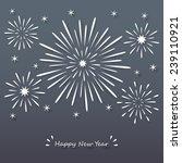 White Paper Exploding Firework...