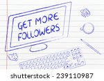 the text get more followers on... | Shutterstock . vector #239110987