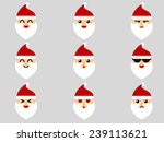 santa claus emoticon | Shutterstock .eps vector #239113621
