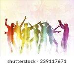 dancing people | Shutterstock .eps vector #239117671
