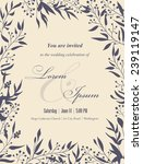 wedding invitation cards with... | Shutterstock .eps vector #239119147