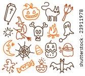 halloween sketches | Shutterstock .eps vector #23911978