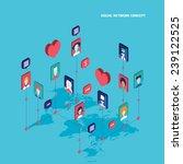 social network concept modern... | Shutterstock .eps vector #239122525