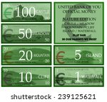 euro play money with nature... | Shutterstock . vector #239125621