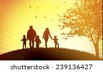 family at sunset | Shutterstock .eps vector #239136427