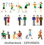 people icon set collection.man ... | Shutterstock .eps vector #239140651